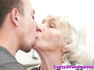 Chubby Granny With Bigtits Doggystyled By Younger Cock