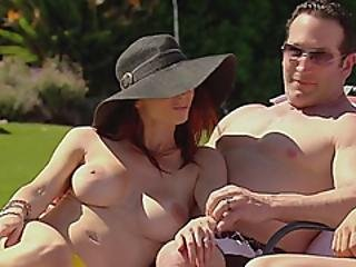 Young Swingers Having Fun Outdoors