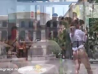 Sexy Public Disgrace Slut Humiliated And Fucked By A Crowd