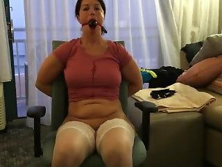 Hot Amateur Wifey Bondage, Big Tittied Milf Bound And Used.