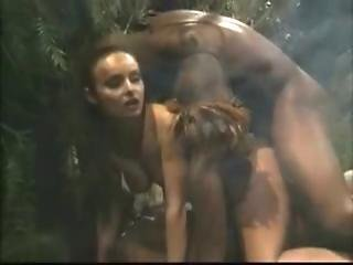White Girl Fucked By Black Men In The Jungle