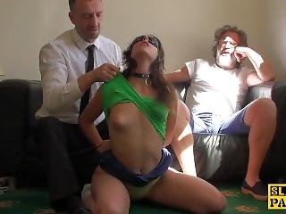 Spanked Uk Sub Fed A Mouthful Of Doms Cum