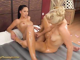 Lesbian Massage With Victoria Sweet And Carla Cox