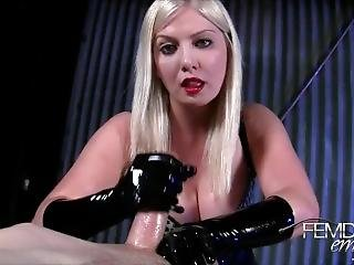 Handjob With Latex Gloves On