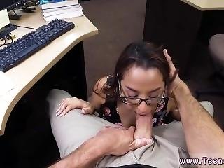 Girl White Cock First Time College Student Banged In My Pawn Shop!