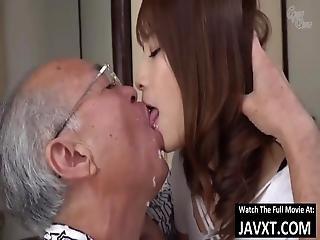 Hot Japanese Milf Fucked By Grandpa