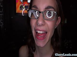 Tali Dova Gets Glory Cum On Her Glasses