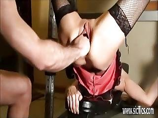 Brutally Fist Fucked Amateur Wife
