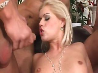 Hot Chick Sucking Three Dicks 2