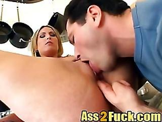 Threesome Double Penetration Blonde Big Dick