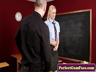 Blonde, Pijp, Room, Sperma, Ejaculatie, Europeaans, Faciaal, Hongaars, Sperma, Pov, School, Sperma, Zuigen