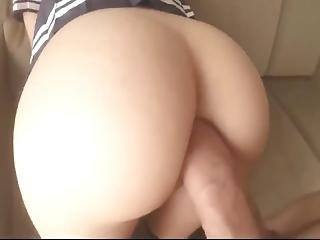 Big Ass Teen Having Doggy Style Anal Fuck