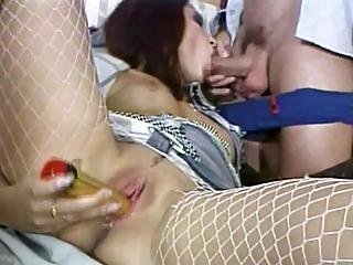 Guy Shoves Dick Into Whore S Dirty Cornhole