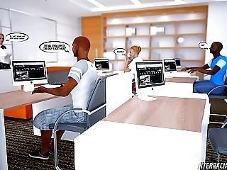 Interracial Lesson 3d Comic