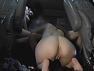 Blonde & Brunette Fuck In A Hot 3some In A Tow Truck