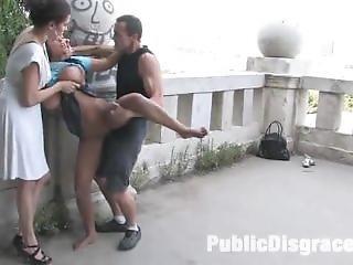 Black Yasmin In Public Bondage