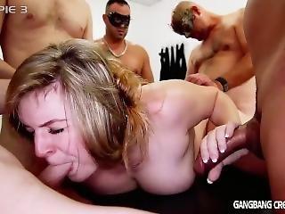 Stort Bryst, Blond, Buttet, Krem, Creampie, Kneppe, Gangbang