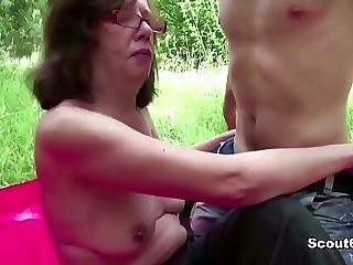 Young Boy Seduce 73yr Old Grandma To Fuck Anal Outdoor