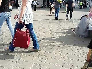 Mature Woman Shoe Dangling