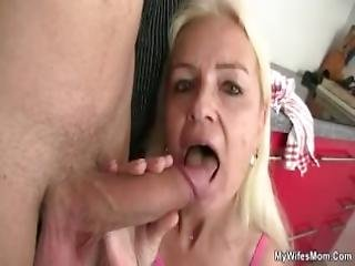 Old Granny Gives Head And Fucks Son In Law