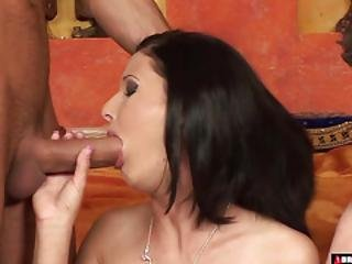 She Loves Having Two Cocks For Herself