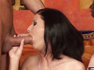 She Loves Having Two Cocks For Herself