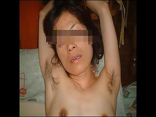 Asian Amateur Wife-01-hairy Armpit Shaved Pussy