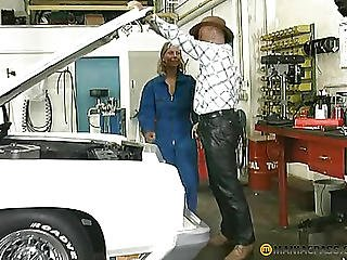 The Girl Sitting In A White Car Sucks Dick