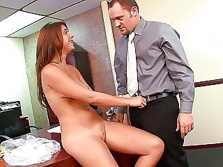 Cute Slut Titty Fucks Hunk Before He Fucks Her At Work