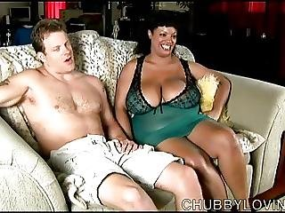 Super Sexy Busty Black Bbw Blows A Lucky White Guy