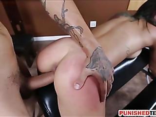 Skinny Teen Slut Gina Valentina Dominated And Smashed Hard