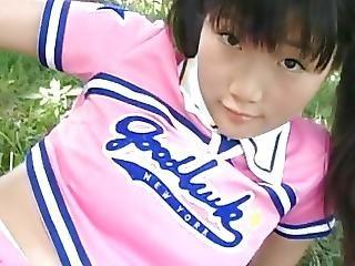 chick, brunette, japaans, softcore, Tiener