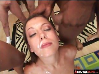 Brutalclips - Countless Cocks Drown Alicia In Jizz