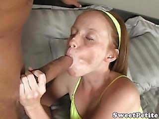 Tiny Redhead Teen Fucks For The First Time