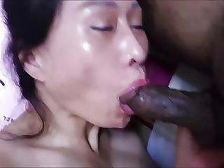 Asian Horny Milf Mahkyo Sucking Black Cock