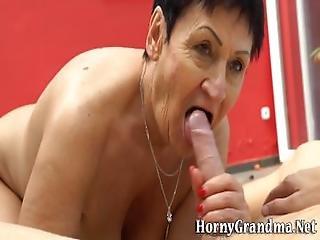 Skanky Grandma Eaten Out