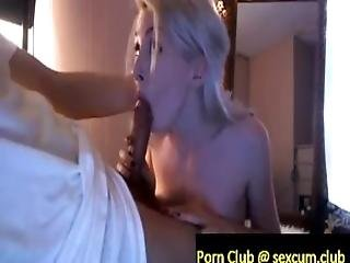Blonde Amateur Delivers An Amazing Blowjob Switching From Him