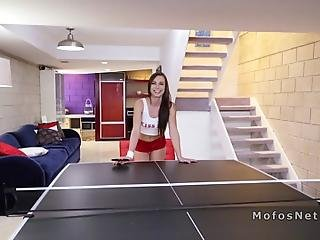 Hot Brunette Teen Girlfriend Aidra Fox Plays Table Tennis With Her Bf In Basement But She Was Not Good As Moves To Pussy And Anal Sex For The First Time