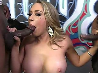 Rebellious Teen With Huge Tits Does Everything She Can To Get Sticky Cum All Over Her Face