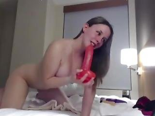 Gorgeous Brunette With Sexy Voice Squirts Like Fountain