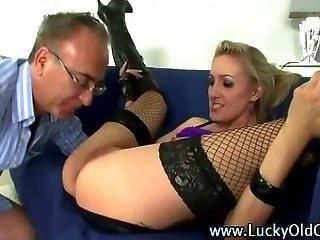 Older British Guy Ass Fucks A Blonde Slut In Boots