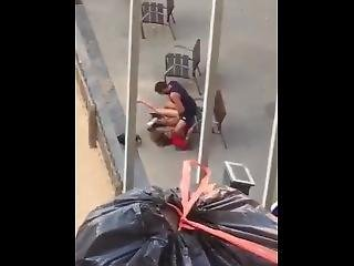 Pile Driving His Girlfriend In Public! Public Sex To The Max!