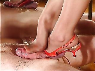 Hot Mistress Footjob
