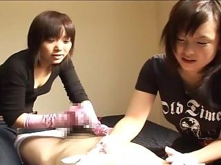 Cute, Fetish, Handjob, Japanese, Massage, Teasing, Threesome, Tickling