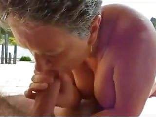 Insanely Horny Granny Giving head