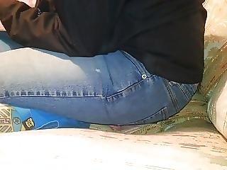 Brésilienne, Anglaise, S'asseoir Sur La Tête, Jeans