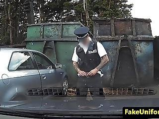 Facialized Prisoner Fucks Cop On Car