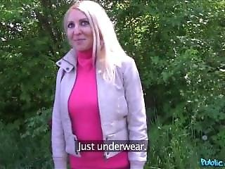 Publicagent Hot Tattooed Blonde Fucked In A Car