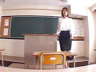 Aya Sakurai Puts Ball Batter On Vagina In Classroom