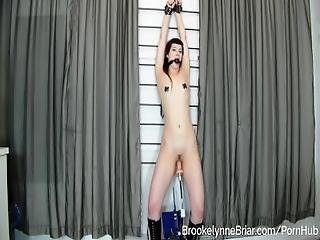 Hot Goth Babe Gagged %26 Teased By A Fucking Machine Dildo While In Bondage